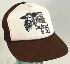 DEADWOOD South Dakota Hat-Brown-Mesh-Snapback-Rope Bill-Vtg - $32.71