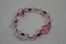 Handmade Pink & Fuchsia Copper Wire Bracelet Acrylic Beads Swarovski Cry... - $36.00
