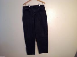WearGuard Men's Size M 36/32 Black Faded Denim Jeans Classic Rise Straight Leg