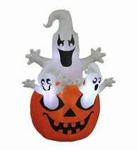 Halloween Inflatable Three Ghosts Pumpkin Yard Party Decoration Blowup L... - €58,87 EUR