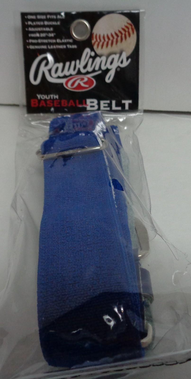 "Rawlings Youth Baseball Belt Blue Fits waist 20""-34"" NIP"