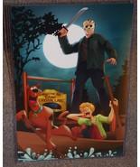Scooby Doo vs Jason Voorhees Glossy Art Print 11 x 17 In Hard Plastic Sl... - $24.99