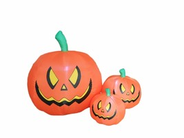 Halloween Inflatable Three Pumpkins Patch LED Lights Blowup New Yard Dec... - £44.42 GBP