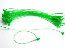 "5"" 500 Pcs GREEN Snap Lock Pin Security Loop  Plastic Tag Fastener Hook ... - $7.39"