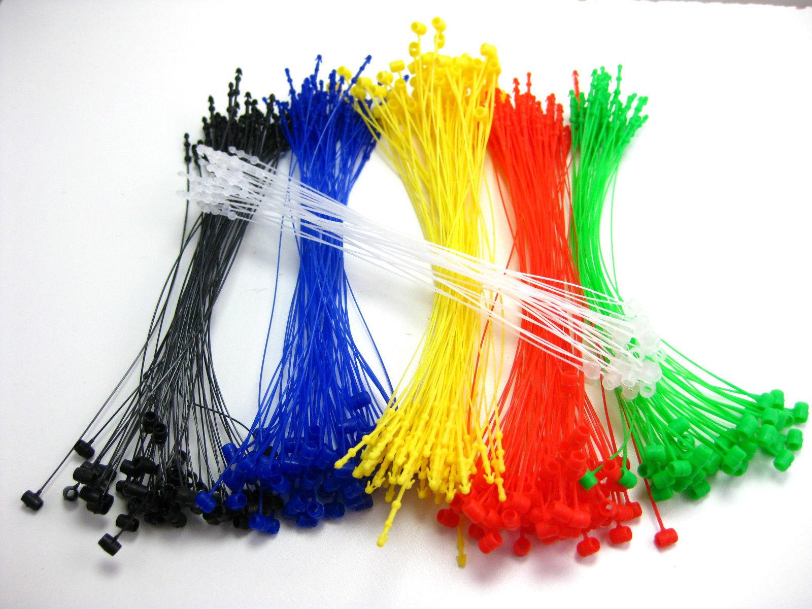 """5/"""" 500 Pcs GREEN Snap Lock Pin Security Loop  Plastic Tag Fastener Hook Ties"""