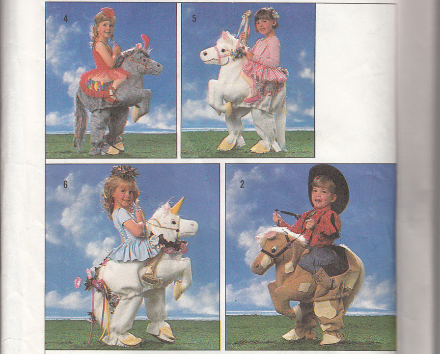 Children's Decorated Horse & Unicorn Costumes Pattern Simplicity 9395