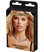 Ann Devine Rhinestone Bling Heart Necklace w/ Bold Chain Brand New Lapdance - $32.99