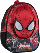 $35 Marvel Spiderman Backpack With Molded Eva Front Backpack Red 16 inch  - $18.69