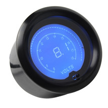 "2"" 52mm Blue 7Color LED Light Volt Voltage Meter Car Digital Gauge Smoke Len WYS - $35.49"