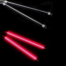"2Pc Car Red Undercar Underbody Neon Light Cold Cathode Tube 6"" 15CM WYS Sales - $7.41"
