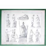 NUDE Greek Sculpture Art Venus Pallas Athena Julia - SUPERB Print Engraving - $13.88