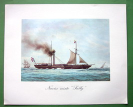 SAILSHIPS French Passanger Steamer Sully - 1963 Fine Quality Color Print - $22.18