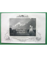 CONNECTICUT View of Hartford - 1840 Original Print Engraving - $12.20