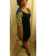 summer -fall scarf / shawl multi color green blue white and purple  - $27.95
