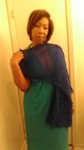 shawl -scarf royal blue super long light weight - $29.95