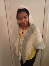 girl poncho with hood multi color - $19.95