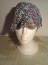 my multi color hat with brim - $12.95