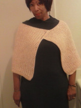 Ladies poncho silk and mohair blend very warm nice weight - $37.50