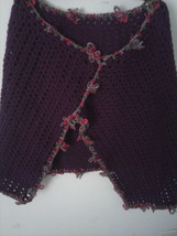 Beautiful Brown and Purple Crochet Poncho - $29.95