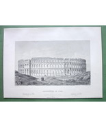 CROATIA Roman Amphitheatre at Pola - 1860 SCARC... - $26.93