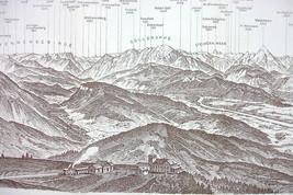 1929 MAP ORIGINAL Baedeker - ALPS Panoramic Vie... - $8.41