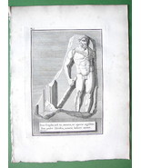 1814 Antique Print - Roman Antiquities Statue o... - $12.20