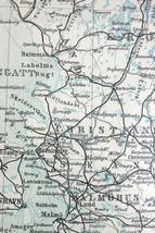 1892 MAP ORIGINAL Baedeker - SOUTHERN SWEDEN - $7.91