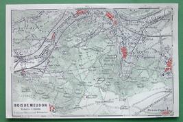 1913 MAP ORIGINAL Baedeker - FRANCE Paris Bois ... - $4.21