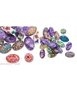 30 Polymer Poly Fimo CLAY Bead Mix ~Flower Desi... - $6.99