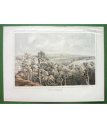 AMERICAN WEST North Dakota Butte de Morale - 1850s Tinted Litho Print - $13.46