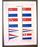 FLAGS HOLLAND Surinam Celebes Governor Naval Ma... - $12.20