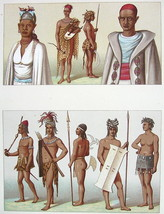 AFRICA Costume Fashion Timbuctoo Natives - COLOR Litho Print by Racinet - $14.26