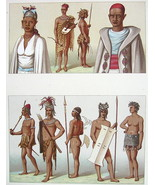 AFRICA Costume Fashion Timbuctoo Natives - COLO... - $14.26
