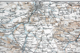 1904 MAP ORIGINAL Baedeker - GERMANY Thuringia - $7.91