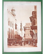 ARCHITECTURE PRINT: Egypt Cairo Grand Avenue of... - $28.61