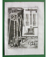 1784 ANTIQUE PRINT - IRON ORE MINING Calcination - $5.05