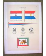 FLAGS PERSIA Paraguay Admiral Naval Marine Badg... - $12.20