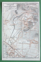 1913 MAP ORIGINAL Baedeker - FRANCE Enghien & M... - $4.21