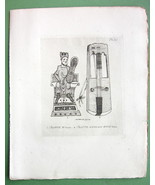 ORIGINAL ETCHING Print - MUSICAL Instruments Eb... - $16.82