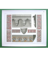 GERMANY Romanesque Ornaments Churches - COLOR L... - $25.24