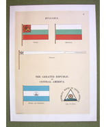 FLAGS BULGARIA & Republic of Central America Ma... - $12.20