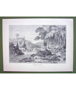 SOUTH AMERICA Scenery in Guyana Guiana - 1858 A... - $15.15