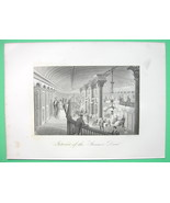 STEAM LINER Drew Luxury Interior Hall - 1876 Or... - $21.00