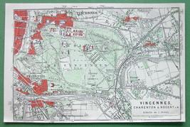 1913 MAP ORIGINAL Baedeker - FRANCE Vincennes C... - $4.21