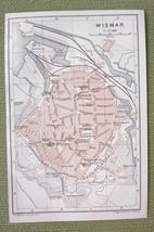 GERMANY Wismar City Plan & Railroads - 1904 MAP... - $4.63