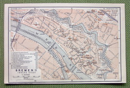 GERMANY Bremen City Center Plan Railways - 1904... - $4.74