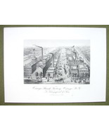 NEW YORK Oswego Starch Factory - 1876 Original Engraving Print - $21.00
