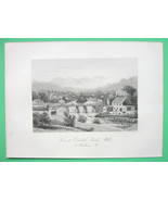 SOUTH WINDHAM Massachusetts Gun Poder Mills Co - 1876 Original Engraving... - $21.00