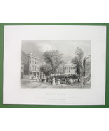 BALLSTON SPRINGS New York State - BARTLETT Antique Print Engraving - $8.00