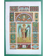 ROMANESQUE Wall Paintings Italy Germany - Color... - $16.41